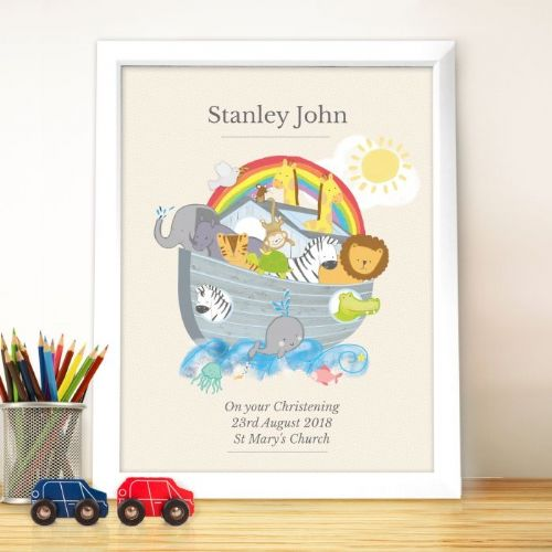 Personalised Noah's Ark Framed Picture